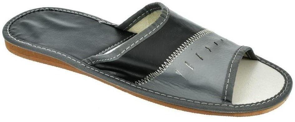0358ff639469 Papuče Natural Style Pánske papuče čierno-sivej farby APOLINAR ...