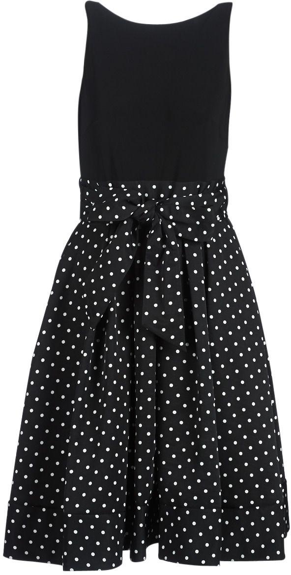Krátke šaty Lauren Ralph Lauren POLKA DOT FIT AND FLARE DRESS značky ... 69e32b0c73b