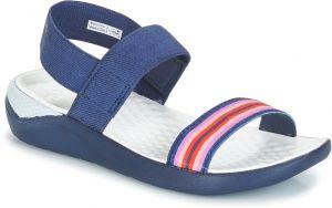 bb594a997fa6 Crocs modré sandále Isabella Grph Strappy Sandal Blue Jean Gold ...