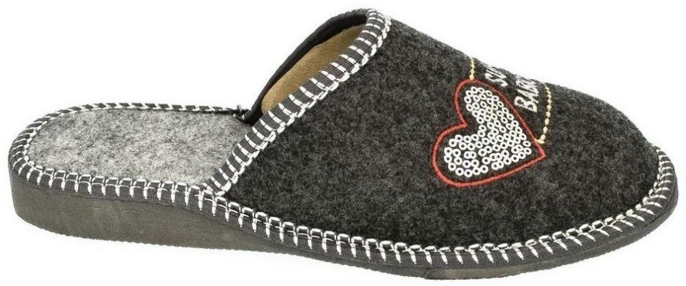 6f8a502b8a36 Papuče John-C Dámske sivé papuče BABKA značky John-C - Lovely.sk