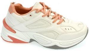 8a4cb61380b7 Nízke tenisky Comer Dámske bielo-ružové tenisky CANDI