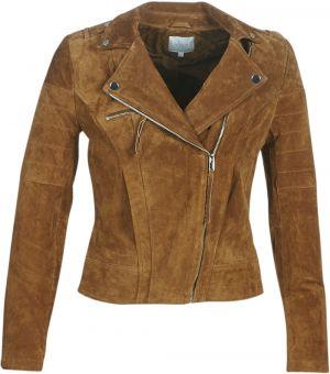 64c47c09c Hnedá semišová kožená bunda VILA Faith značky VILA - Lovely.sk