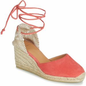 84a7c212ab16 Sandále Carsona Oranžové kožené sandále na klinovom opätku TARA ...