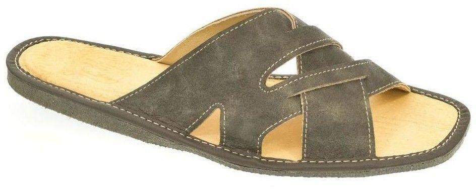 49899c8388 Sandále John-C Pánske sivé papuče RONDO značky John-C - Lovely.sk