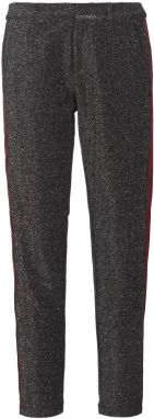 Nohavice päťvreckové Maison Scotch  TAPERED LUREX PANTS WITH VELVET SIDE PANEL
