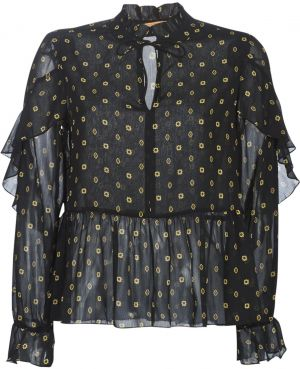 Blúzka Maison Scotch  SHEER PRINTED TOP WITH RUFFLES