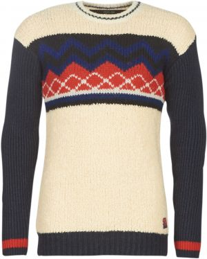 Svetre Scotch   Soda  MIXED TEDDY AND RIB KNIT PULL WITH PLACEMENT PATTERN