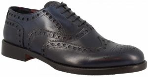 Richelieu Leonardo Shoes  3195/2 TAMPONATO BLU