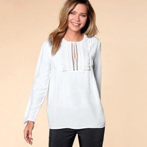 88f25ff10385 VENCA Pruhovaná košeľa so vsadkami na lakťoch pruhované 44 značky ...