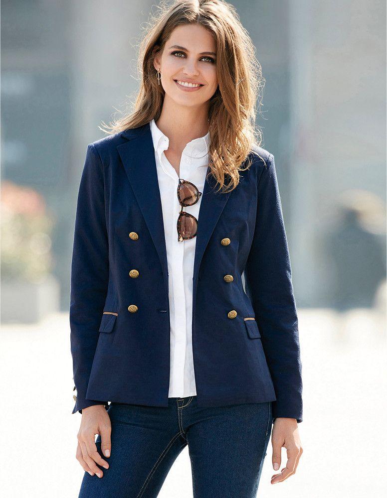 VENCA Sako so zlatými gombíkmi námornícka modrá L značky VENCA - Lovely.sk 92c0218dd54