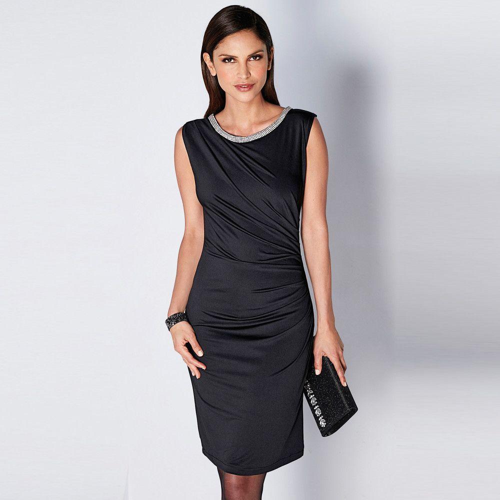 Krátke šaty bez rukávov čierna 38 - Lovely.sk e9351c5d513