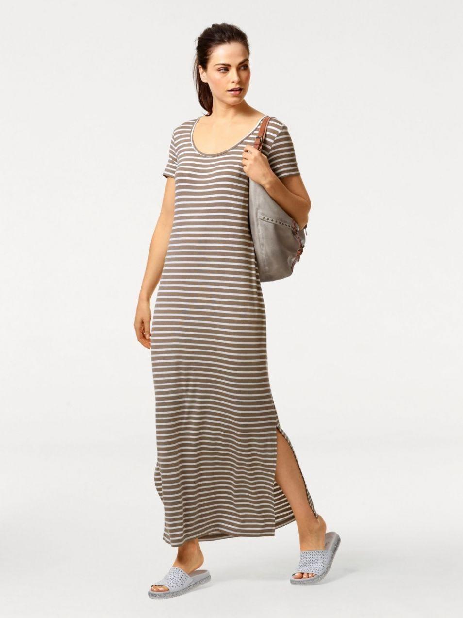 c86105222de B.C. BEST CONNECTIONS by Heine Pruhované džersejové šaty