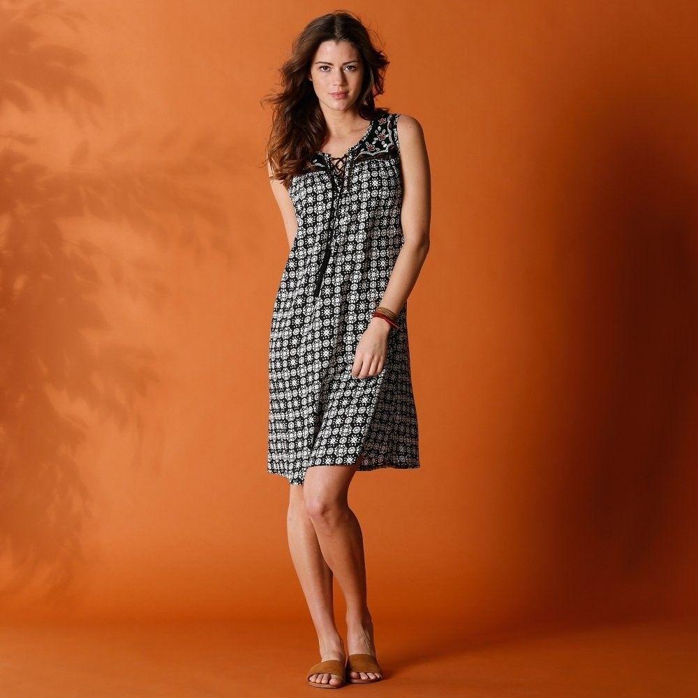 2df4ed61ed77 Blancheporte Šaty s etno vzorom čierna sl.kosť 46 značky Blancheporte -  Lovely.sk