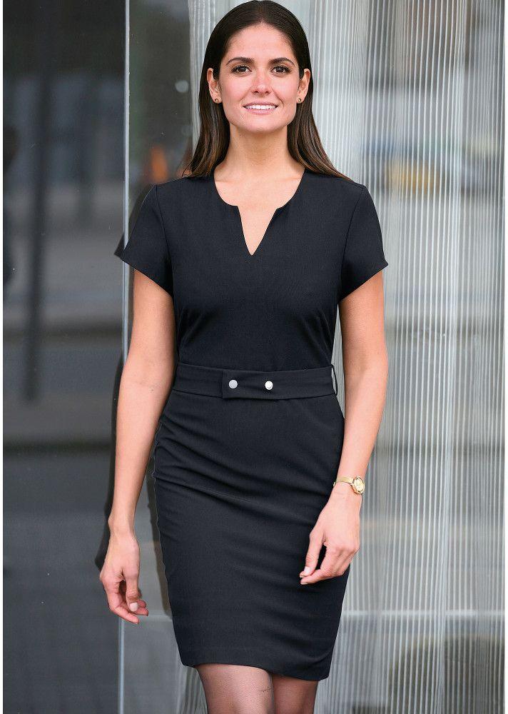 97795b735319 VENCA Jednofarebné šaty s opaskom čierna 38 značky VENCA - Lovely.sk