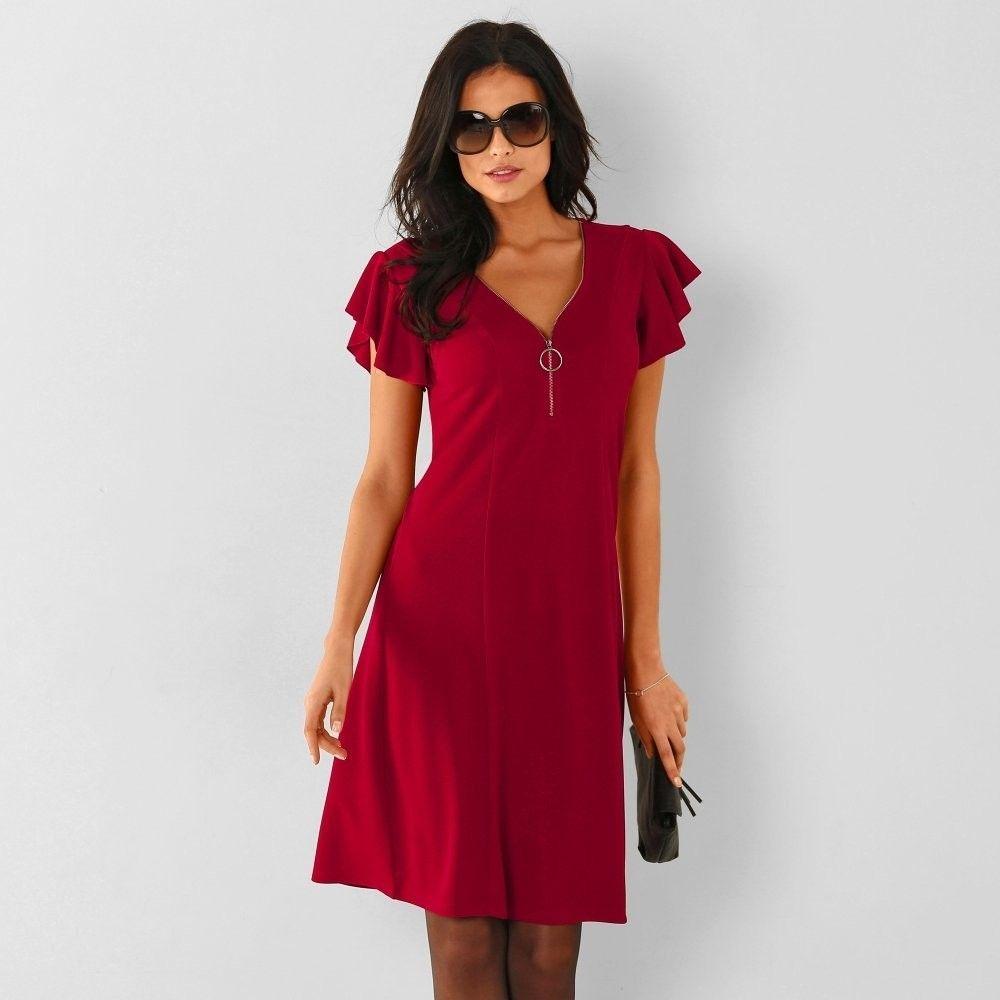 2d05425919a9 Blancheporte Vzdušné šaty s volánovými rukávmi červená 40 značky  Blancheporte - Lovely.sk