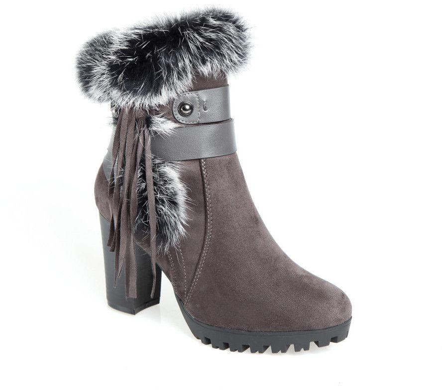 89634b1032 VENCA Členkové topánky so syntetickou kožušinou sivá 37 značky VENCA -  Lovely.sk