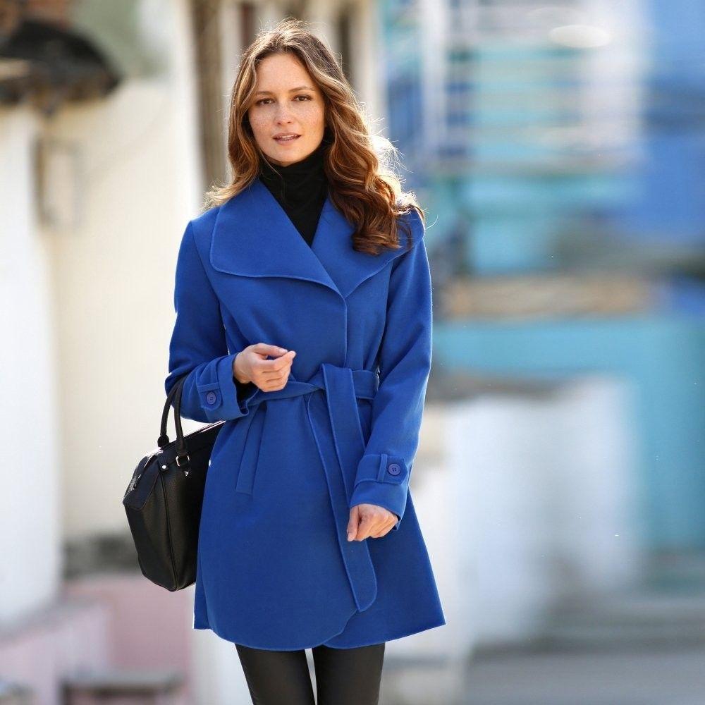 Blancheporte Kabát s opaskom modrá 36 značky Blancheporte - Lovely.sk 2a13070ff53
