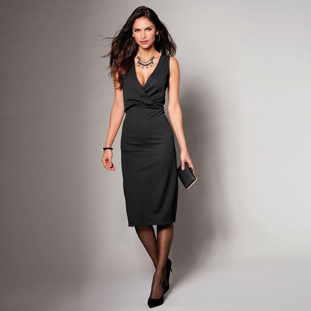 d35a52ce2f VENCA Večerné šaty s hlbokým výstrihom vpredu a vzadu čierna S značky VENCA  - Lovely.sk