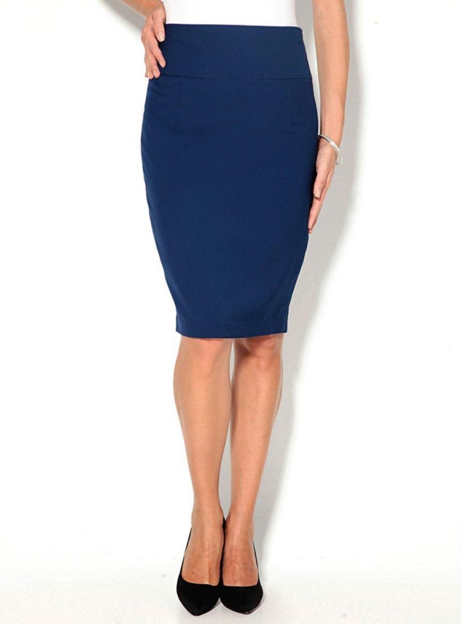 580d09bf47ac VENCA Jednofarebná puzdrová sukňa modrá 38 značky VENCA - Lovely.sk