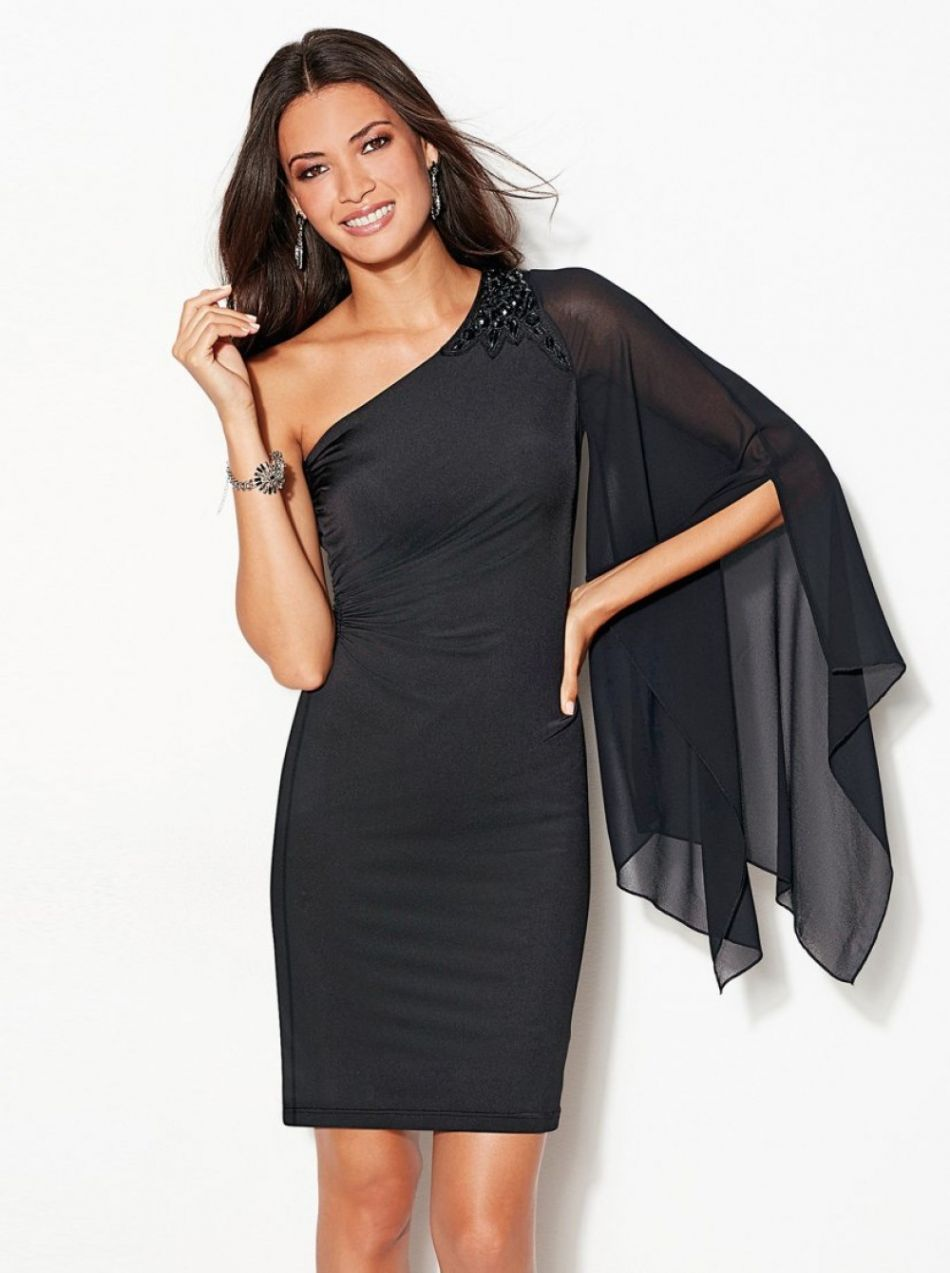 0acd052842 VENCA Šaty s asymetrickým výstrihom čierna 36 značky VENCA - Lovely.sk