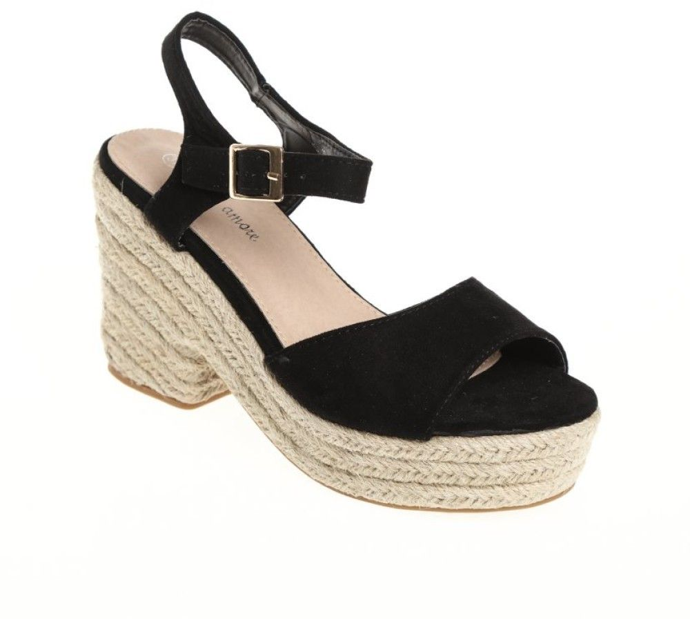 9b5bb01cd0181 VENCA Remienkové topánky na platforme čierna 35 značky VENCA - Lovely.sk