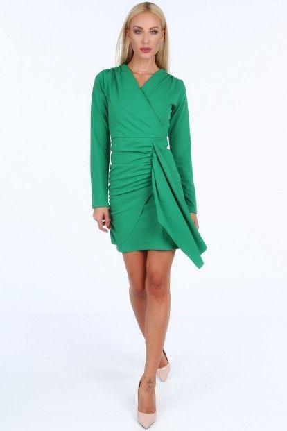 86a41fc2b158 Zelené krátke letné dámske šaty s dlhými rukávmi značky Fasardi - Lovely.sk