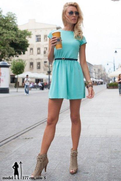 2f17a4200acd Šaty tyrkysové s krátkym rukávom značky Fasardi - Lovely.sk