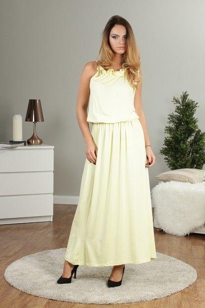 a2080da1ad50 Citrónové dlhé letné šaty značky Fasardi - Lovely.sk