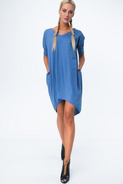 e51f2dcb58ff Dámske letné šaty s výstrihom v tvare písmena V