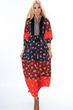 Štýlové dlhé maxi šaty na ramienka značky Fasardi - Lovely.sk 7137083ee46
