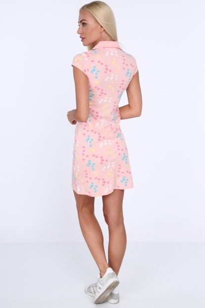 Svetloružové dámske šaty s potlačou motýľov značky Fasardi - Lovely.sk be1ede00a0a