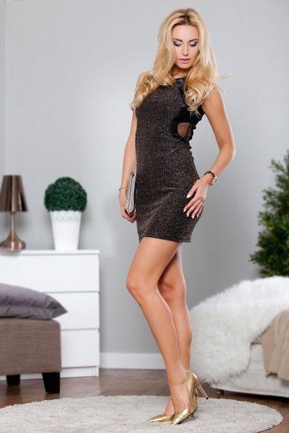 f75d9e0cbfd7 Zlaté extravagantné šaty značky Fasardi - Lovely.sk