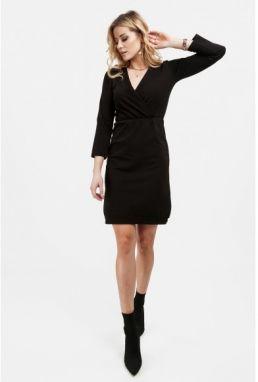 ccb5bd47f149 Bavlnené šaty so zipsom vpredu a stojanovým golierom na výstrihu ...