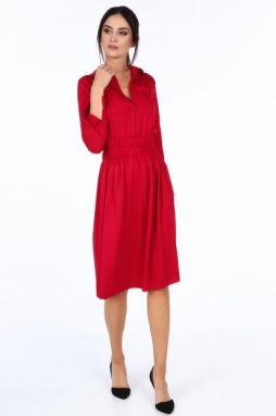 Červené dámske šaty s tenkými ramienkami značky Fasardi - Lovely.sk ffebac27528