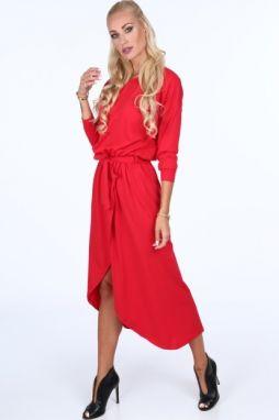 6d41ab57cdf6 Červené extravagantné mini šaty značky Fasardi - Lovely.sk