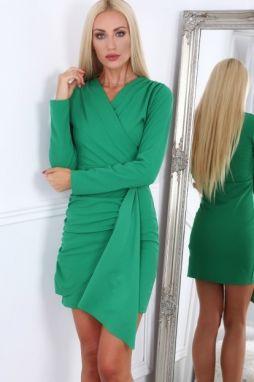 ca656da54d49 Zelené krátke letné dámske šaty s dlhými rukávmi značky Fasardi ...
