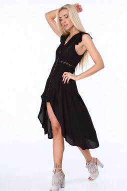 cf8633329d61 Čierno-modré dámske šaty s motívom vlčieho maku značky Fasardi ...