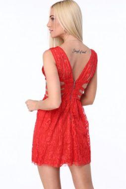 Červené dámske šaty so šifónom značky Fasardi - Lovely.sk f5ff73c03fa