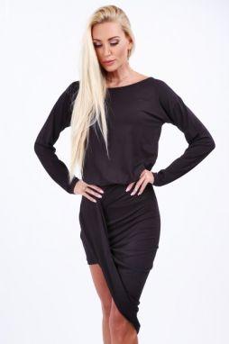 14da9780e5ed Čierne dámske šaty s nadrozmernými rukávmi značky Fasardi - Lovely.sk