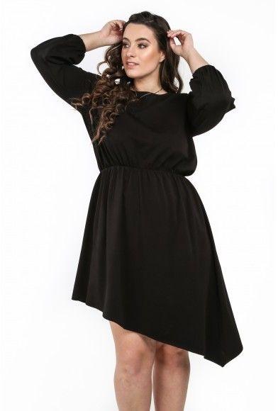 20c68c10f126 Asymetrické štýlové šaty s okrúhlym výstrihom