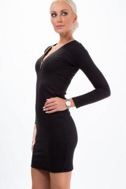 9494ca9b8017 Sexi lesklé koženkové šaty Koucla in-sat1657bl - Lovely.sk