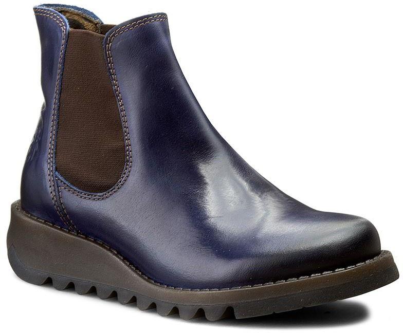 Koníková obuv s elastickým prvkom FLY LONDON - Salv P143195019 Blue ... cee7f559516