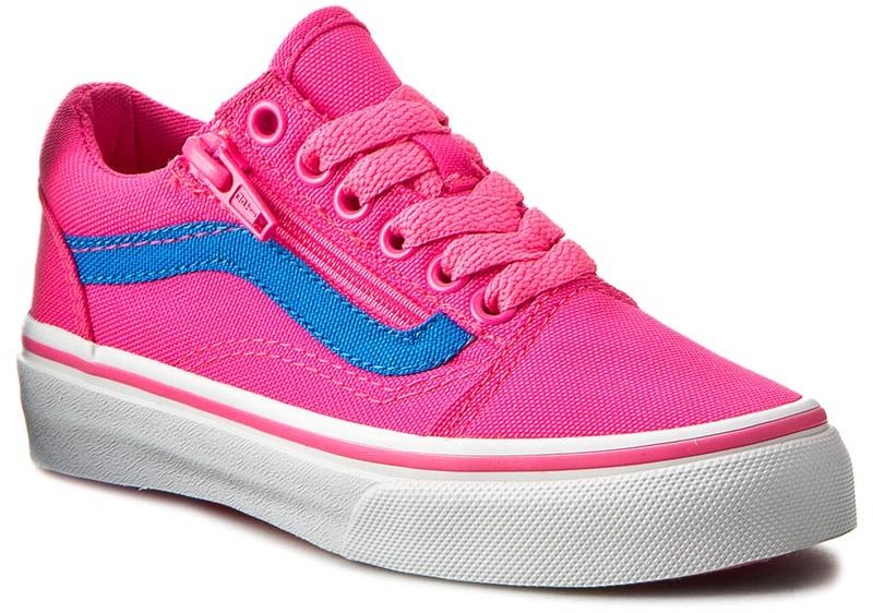 Tenisky VANS - Old Skool Zip VN0A38HEMMV (Neon Canvas) Pink Blue značky Vans  - Lovely.sk 3529ada0d61