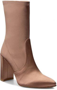 cb45c4e16 Ružové dámske semišové členkové topánky na podpätku Vagabond Alice ...