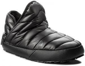 Papuče THE NORTH FACE - Thermoball Traction Bootie T933IHYWY-050 Shiny Tnf Black/Beluga Grey