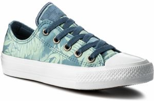 Tramky CONVERSE - Ctas II Ox 555984C Blue Coast/Jaded/White