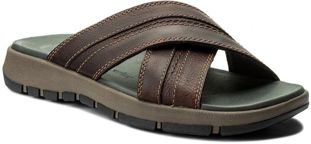 57b441cd920a0 Šľapky CLARKS - Brixby Cross 261315267 Dark Brown Leather značky Clarks -  Lovely.sk