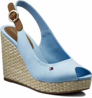 3dd257ed184a Espadrilky TOMMY HILFIGER - Iconic Elena Basic Sling Back FW0FW02787  Chambray Blue 407