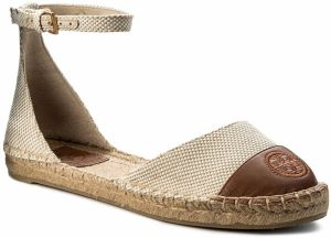Espadrilky TORY BURCH - Color Block Ankle-Strap Espadrille 47027 Perfect Sand/Perfect Cuoio 241