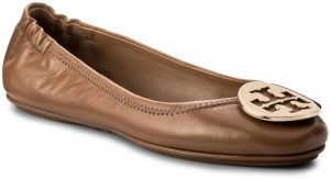 Baleríny TORY BURCH - Minnie Travel Ballet With Metal Logo 32880 Royal Tan/Gold 232